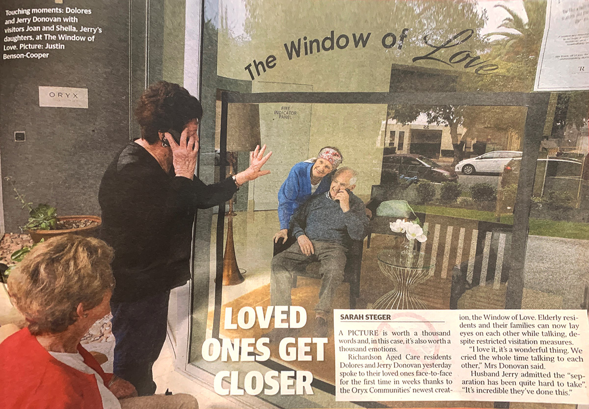 The Richardsons Window of Love features in the Sunday Times