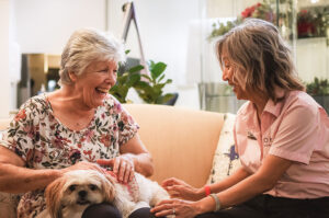 pet therapy for elderly and aged care